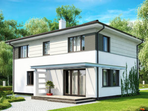 Проект строительства дома из арболита А-6