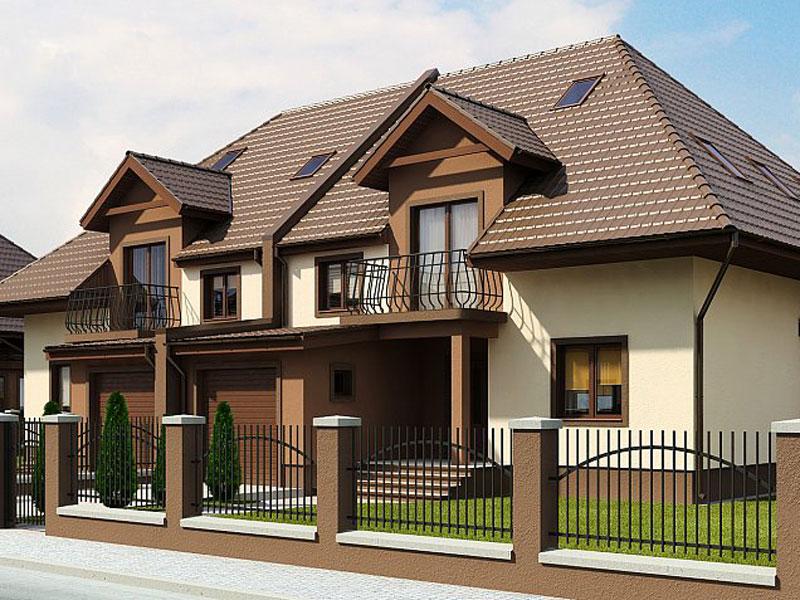 Проект дома из арболита по малой цене А-9