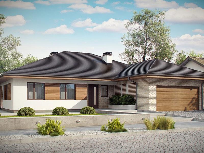 Проект дома из арболита по низкой цене А-7
