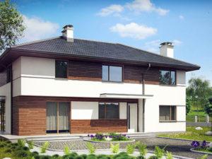 Проект дома из арболита по низкой цене А-8