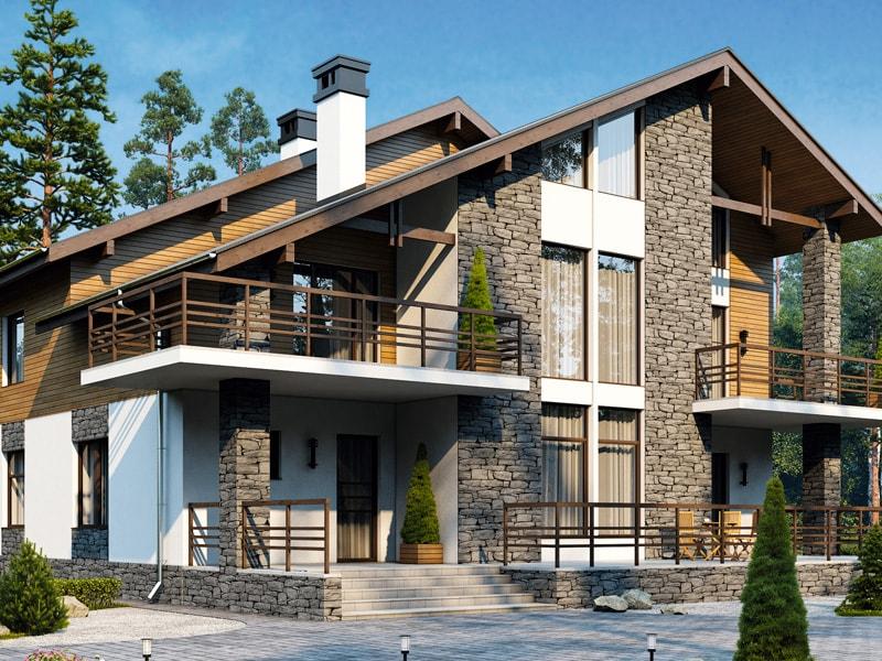 Проект дома из арболитовых блоков А-10