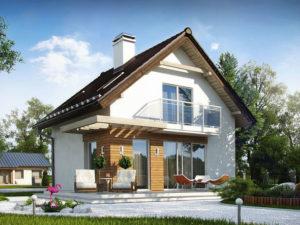 Проект дома из арболита А-2