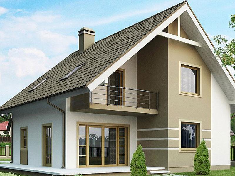 Проект дома из арболита под ключ А-5