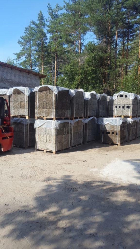 арболитовые блоки готовые к отправке