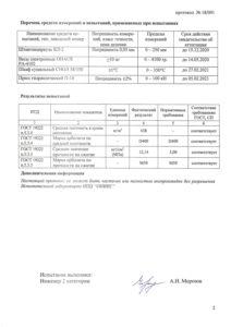 Протокол испытаний теплоизоляционных арболитовых блоков D400